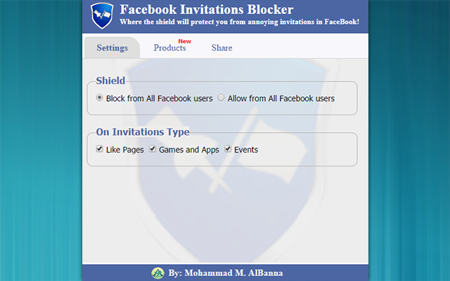 Facebook Invitations Blocker