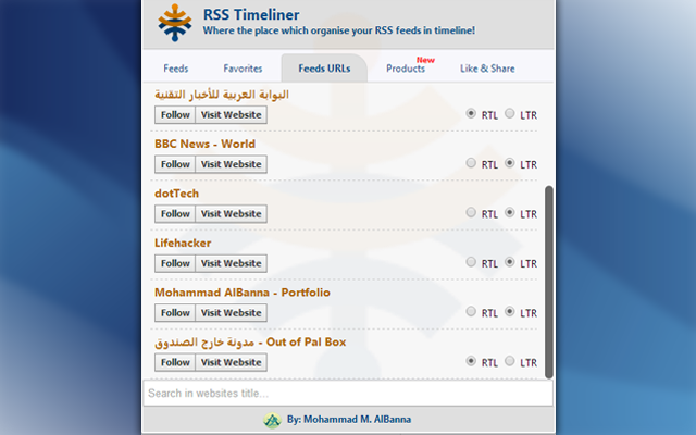 RSS Timeliner - Chrome Extension