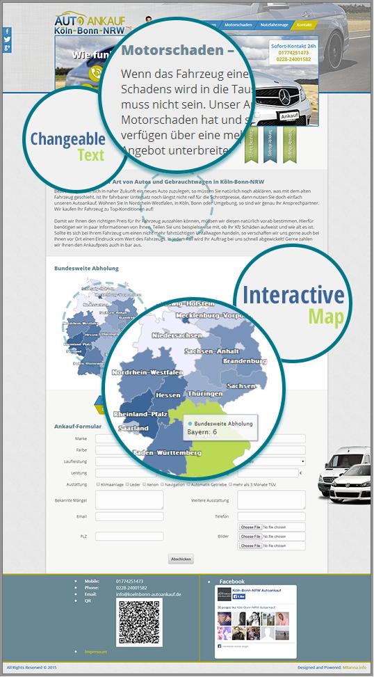 Köln-Bonn-NRW Autoankauf Website Details